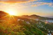 image of virgin  - Virgin Islands St Thomas sunrise with colorful cloud - JPG