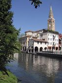 Portogruaro, Italy, landscape from the Lemene river