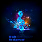 illustration of abstract musical background with note