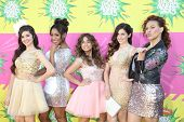 LOS ANGELES - MAR 23:  Fifth Harmony arrives at Nickelodeon's 26th Annual Kids' Choice Awards at the