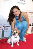 BEVERLY HILLS - MAR 23: Constance Marie, Dog Beatrice (Modern Family) at  the 2013 Genesis Awards Be
