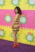 LOS ANGELES - MAR 23:  Victoria Justice arrives at Nickelodeon's 26th Annual Kids' Choice Awards at the USC Galen Center on March 23, 2013 in Los Angeles, CA