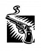 Smoking Gun - Retro Clip Art Illustration