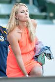 CARSON, CA - JUNE 23: Lindsey Vonn U.S. skiing champion & olympic gold medalist at the MLS game betw