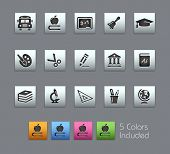 School & Education Icons // Satinbox Series -------It includes 5 color versions for each icon in dif