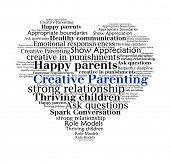 Creative Parenting n word collage