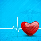 Abstract World health day concept with heart and heart beats.