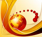 Abstrakte Welt Business-theme