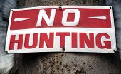 Distressed No Hunting Sign