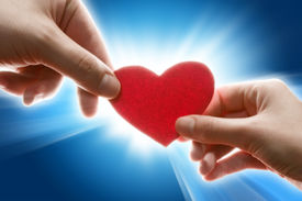 picture of hand heart  - Female and man - JPG