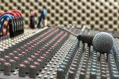 Studio Mixer And Microphone