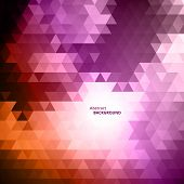Abstract Violet Triangular Background
