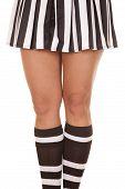 Woman Referee Legs Knees