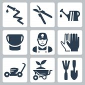 Vector Gardening Icons Set