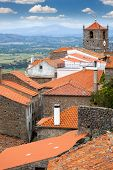 Roof view of European small town /  Monsanto / Portugal / Enjoy travel