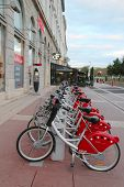 Velo'v bicycle sharing station in Lyon