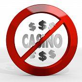 3D Render Of A Forbidden Forbidden Casino Not Allowed