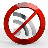 Illustration Of A Forbidden Wifi Sign Not Allowed