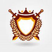 blazon design element emblem sign crest medallion