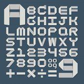 Origami alphabet ( A - Z ) , eps10 vector format