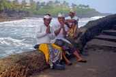 Balinese Men By The Sea