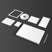 Blank Corporate Set isolated on grey mock up