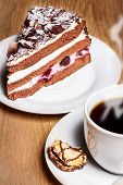Coffee With Black Forest Cherry Cake