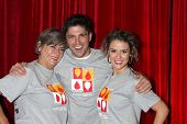 LOS ANGELES - OCT 6:  Char Griggs, Robert Adamson, Linsey Godfrey at the Light The Night The Walk to