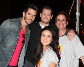 LOS ANGELES - OCT 6:  Brandon Beemer, Zack Conroy, Nadia Bjorlin, Christian LeBlanc at the Light The