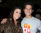 LOS ANGELES - OCT 6:  Nadia Bjorlin, Tyler Posey at the Light The Night The Walk to benefit the Leuk