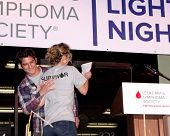 LOS ANGELES - OCT 6:  Tyler Posey, Linsey Godfrey at the Light The Night The Walk to benefit the Leu