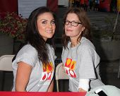 LOS ANGELES - OCT 6:  Nadia Bjorlin, Michelle Stafford at the Light The Night The Walk to benefit th