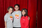LOS ANGELES - OCT 6:  Robert Adamson, Linsey Godfrey, Kate Linder at the Light The Night The Walk to benefit the Leukemia-Lymphoma Society at Sunset-Gower Studios on October 6, 2013 in Los Angeles, CA