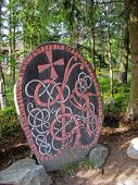 stock photo of loki  - Rune In Skansen Park in Stockholm  - JPG