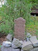 Mil Stone In Skansen Park (sweden)