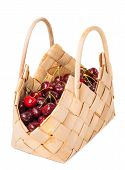Sweet Juicy Cherry In Basket