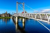 Inverness suspension bridge Scotland UK