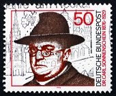 Postage Stamp Germany 1976 Dr. Carl Sonnenschein, Social Reforme