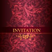 Luxury Invitation Card In Purple Color