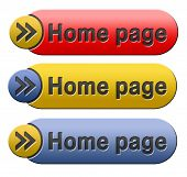 home page button or icon