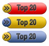 top 20 charts list pop poll result and award winners chart ranking music hits best top tweny quality