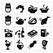 Restaurant Icons two - cook, chef and fine dining