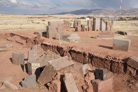 pic of pumapunku  - Ancient ruins of Puma Punku - JPG