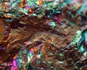 stock photo of iron pyrite  - Crystal nugget gold bronze copper iron - JPG