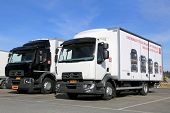 Two Renault Range D Trucks
