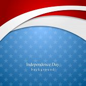 image of star shape  - Abstract Independence Day vector background - JPG