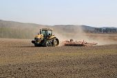 Caterpillar Challenger Tracked Tractor Cultivating Field