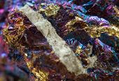 stock photo of iron pyrite  - Crystalnugget gold bronze copper iron - JPG