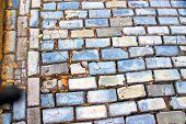 stock photo of san juan puerto rico  - blue cobble stone streets in Old San Juan - JPG