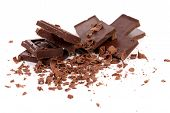 stock photo of crack addiction  - Chocolate bars and shaving - JPG